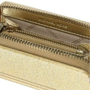 NEW Michael Kors Metallic Zip Coin Card Case - P20